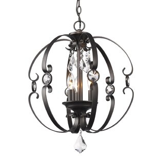 Willa Arlo Interiors Hardouin 3-Light Globe Chandelier