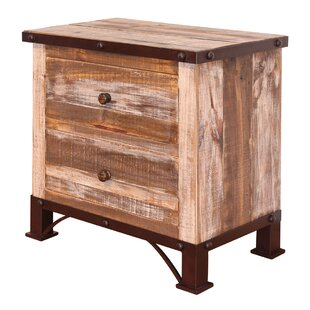 Stoneman 2 Drawer Nightstand by Millwood Pines