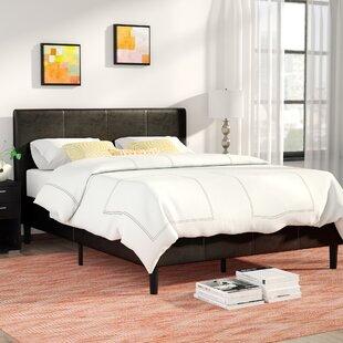 Review Clyde Upholstered Platform Bed