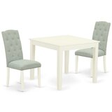 Potton 3 Piece Solid Wood Dining Set by Winston Porter