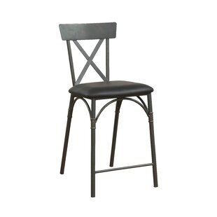 Christofor Counter Height Upholstered Dining Chairs (Set of 2)