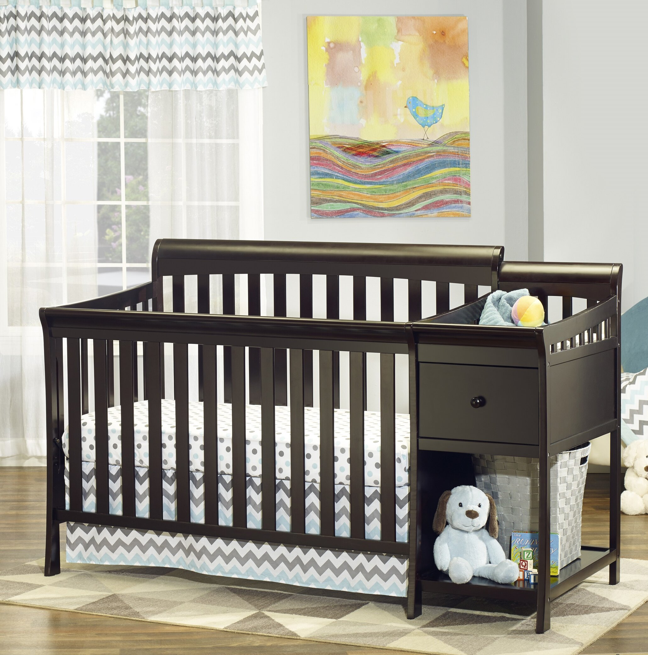 Sorelle Florence 4in1 Convertible Crib and Changer Combo