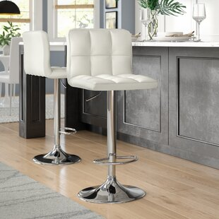 Taylor Adjustable Height Swivel Bar Stool (Set of 2) Wade Logan