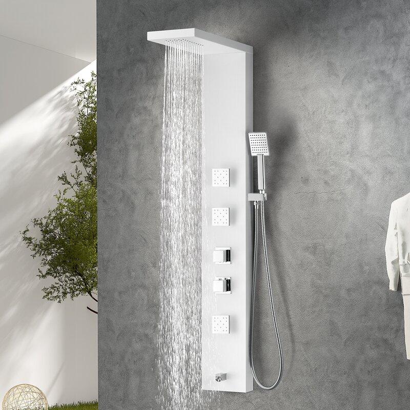 ANZZI Delta Series Fixed Shower Head Shower Panel System | Wayfair
