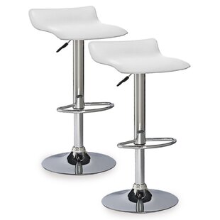 Adjustable Height Swivel Bar Stool (Set of 2) by Leick Furniture