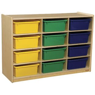 Order Portable 12 Compartment Cubby with Casters By Wood Designs