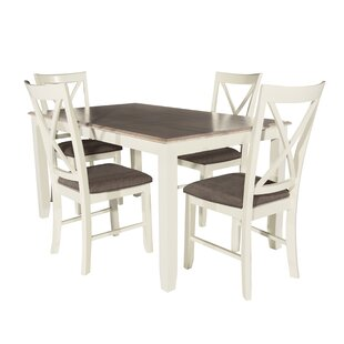 Amaury 5 Piece Dining Set by Laurel Found..