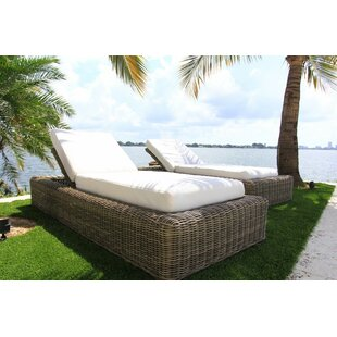 Mauzac Reclining Chaise Lounge with Cushion by Longshore Tides