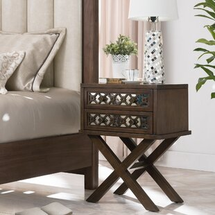 Bungalow Rose Dowell 2 Drawer Nightstand
