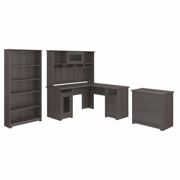 view office shelf desks hon furniture maple front series dd hutch bookcase natural side
