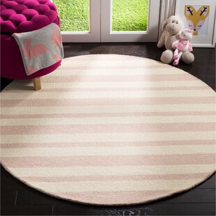 Claro Hand-Tufted Wool Pink/Ivory Area Rug by Harriet Bee