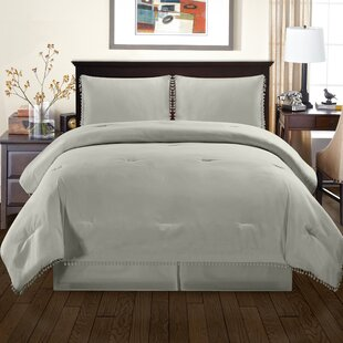 House of Hampton Sedgwick Fringe Down Alternative Comforter Set