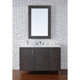Cordie 48 Single Silver Oak Marble Top Bathroom Vanity Set by Orren Ellis