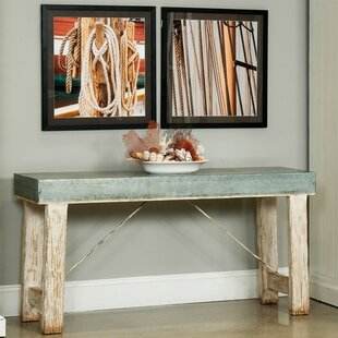 Sarreid Ltd Huffman Zinc-Top Console Table