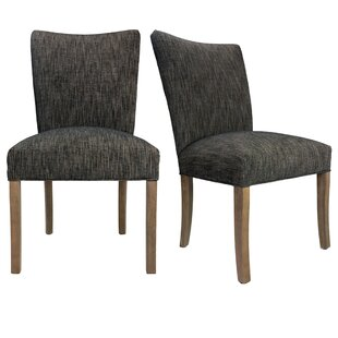 Julia Lucky Spring Seating Double Dow Upholstered Side Chair (Set of 2)