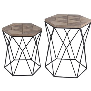 Union Rustic Olmo 2 Piece Nesting Tables