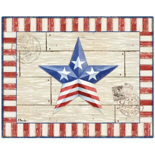 Patriotic Barn Star by Paul Brent Non Slip Flexible Cutting Board