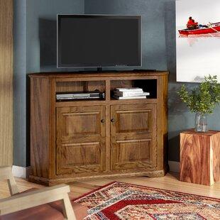 Glastonbury Solid Wood Corner TV Stand For TVs Up To 60