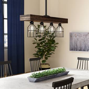 Gracie Oaks Varley 4-Light Kitchen Island Pendant & Reviews | Wayfair