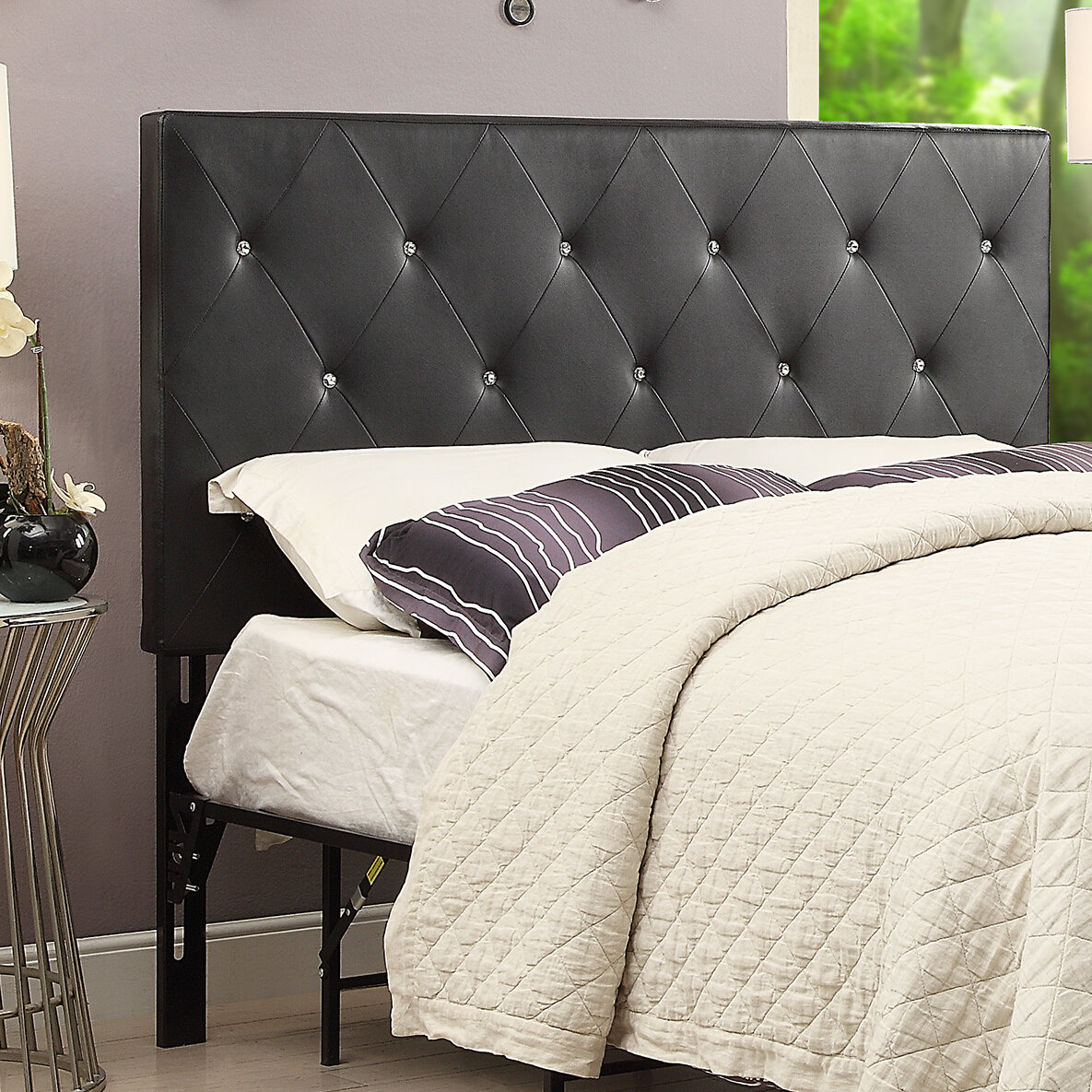 tufted upholstered beds. mercer41 areswell crystal diamond tufted upholstered headboard \u0026 reviews |  wayfair tufted upholstered beds t