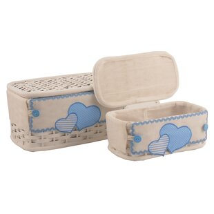 Wicker 2 Piece Box Set By Lily Manor
