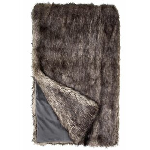 Limited Edition Wolf Faux Fur Throw by Donna Salyer's Fabulous-Furs 2019 Sale