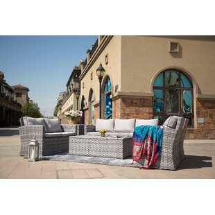 Giavanna 6 Piece Rattan Sofa Seating Group with Cushions