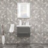 Ursine 24 Wall-Mounted Single Bathroom Vanity Set with Mirror by Orren Ellis