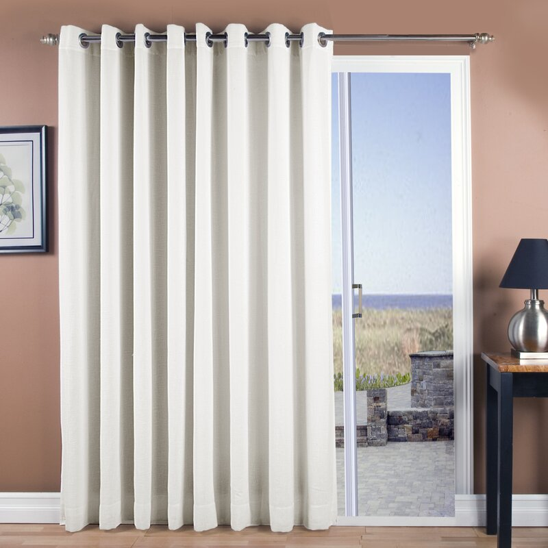 New Castle Patio Solid Room Darkening Grommet Single Curtain Panel
