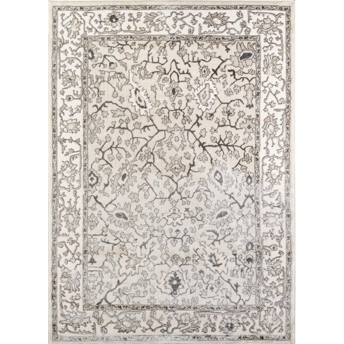 Mardell Ivory Brown Area Rug