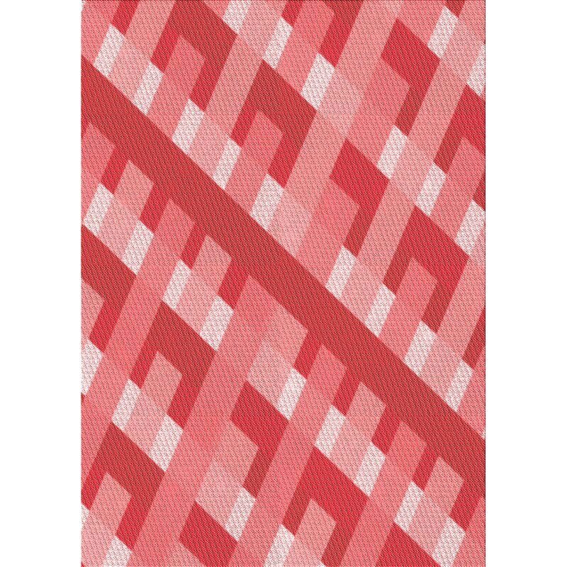 East Urban Home Innis Abstract Wool Red Area Rug Wayfair
