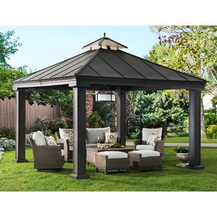 Sunjoy Royal 12 Ft. W x 12 Ft. D Metal Patio Gazebo
