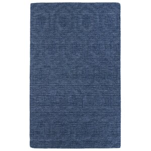 Dobson Hand-Tufted Blue Area Rug