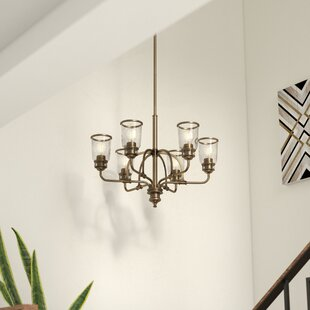 17 Stories Laurenza Traditional 6-Light Shaded Chandelier
