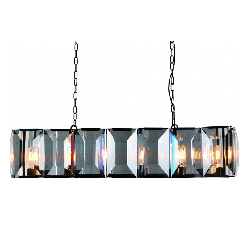 Everly Quinn Glaspie 12 Light Square Rectangle Chandelier
