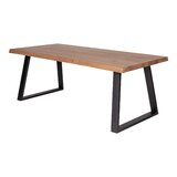 Crouch Solid Oak Dining Table by Loon Peak®
