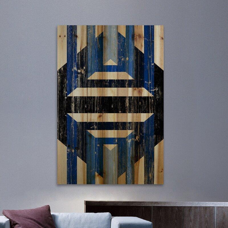 'Through Blinds' Print on Wood - Cool Geometric Wall Decor