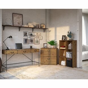 Ironworks Desk And Bookcase Set by Kathy Ireland Home Bush Furniture Cool