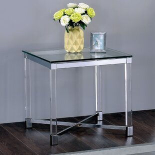 Aquila Contemporary End Table by Orren Ellis