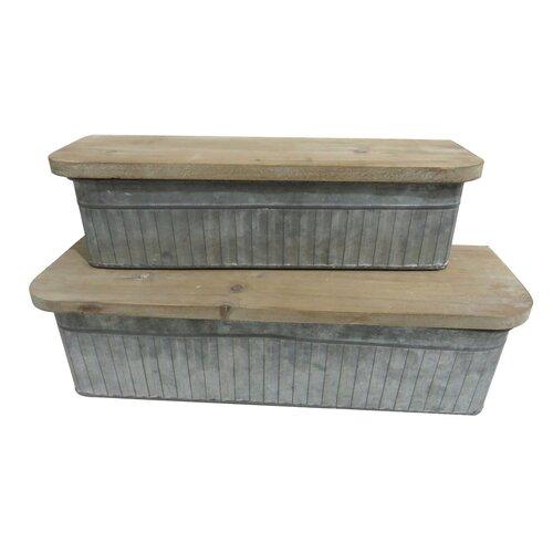 2-tlg. Keksdosen-Set Heller LoftDesigns | Küche und Esszimmer > Aufbewahrung > Vorratsdosen | LoftDesigns