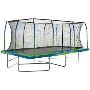 17' Rectangle Trampoline With Safety Enclosure By Upper Bounce