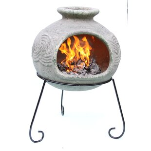 Elfyn Clay Wood Burning Chiminea By Gardeco