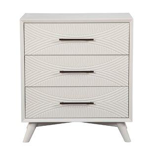 Brayden Studio Crowe 3 Drawer Dresser