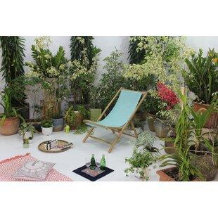 Peristeronari Folding Bamboo Relax Sling Beach Chair by Bay Isle Home