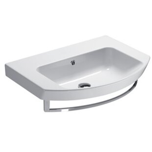 GSI Collection Modo Ceramic Rectangular Drop-In Bathroom Sink with Overflow