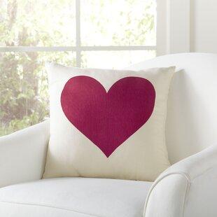 Mason Heart Pillow Cover