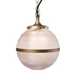 Gracie Oaks Sinclaire 1-Light Globe Pendant