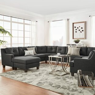 Brayden Studio Doane 11 Seat Reversible Sectional with Ottoman