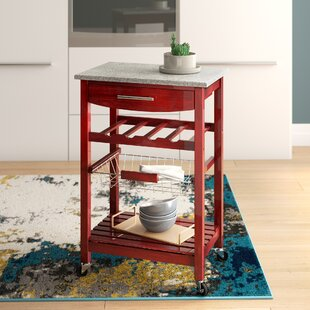 Hauge Kitchen Cart with Granite Top