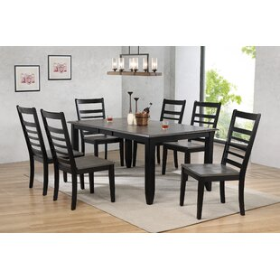 Tempo Brook 7 Piece Extendable Solid Wood Dining Set